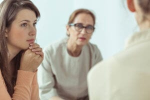 Women In A Group Therapy Session During Outpatient Rehab